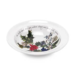 Portmeirion Holly and Ivy - 15cm Soup/Cereal Bowl