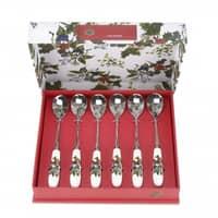 Portmeirion Holly and Ivy - Tea Spoon Set 6