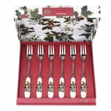 Portmeirion Holly and Ivy - Pastry Fork Set Of 6