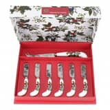 Portmeirion Holly and Ivy - Cheese Knife and 6 Spreaders