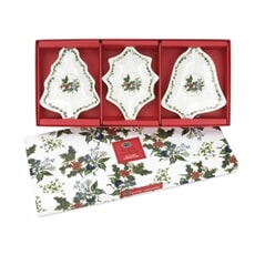 Portmeirion Holly and Ivy - Christmas Dishes Set Of 3