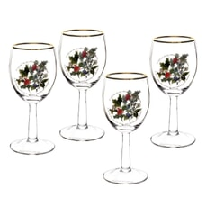 Portmeirion Holly and Ivy - Wine Glass Set Of 4