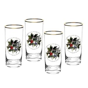 Portmeirion Holly and Ivy - Hi-ball Glass Set Of 4