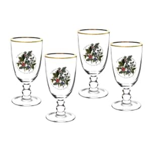 Portmeirion Holly and Ivy - Goblet Set Of 4