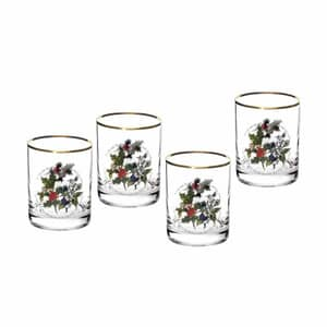 Portmeirion Holly and Ivy - Double Old Fashioned Tumblers Set Of 4