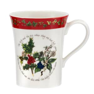 Portmeirion Holly and Ivy - Mug With Red Border
