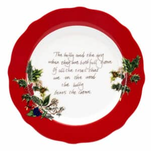 Portmeirion Holly and Ivy - Tea Plate (Red Border)