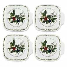 Portmeirion Holly and Ivy - Canape Dishes Set Of 4