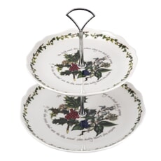 Portmeirion Holly and Ivy - 2 Tier Cake Stand