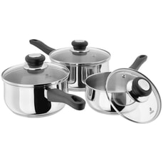 Judge J3A1 Vista 3 Piece Saucepan Set