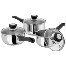 Judge Vista 3 Piece Saucepan Set