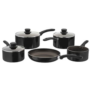 Judge Radiant 5 Piece Saucepan Set Non-Stick Black