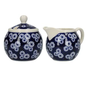 London Pottery Sugar and Creamer Set Small Daisies