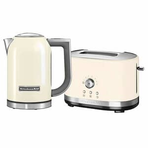 KitchenAid 1.7 Kettle and 2 Slot Manual Almond Toaster Set