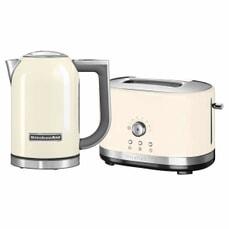 KitchenAid 1.7 Kettle and 2 Slot Manual Almond Toaster Set