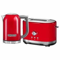 KitchenAid 1.7 Kettle and 2 Slot Manual Empire Red Toaster Set