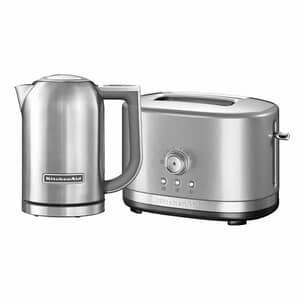 KitchenAid 1.7 Kettle and 2 Slot Manual Contour Silver Toaster Set