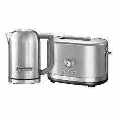 KitchenAid 1.7 Kettle and 2 Slot Manual Contour Silver Toaster Set