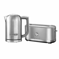 KitchenAid 1.7 Kettle and 4 Slot Manual Contour Silver Toaster Set