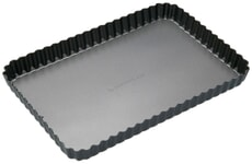 MasterClass Non-Stick Loose Base Fluted Rectangular Flan / Quiche