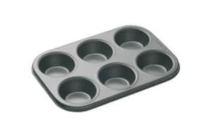 MasterClass Non-Stick 6 Hole Deep Baking Pan