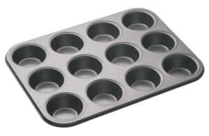 MasterClass Non-Stick 12 Hole Deep Baking Pan