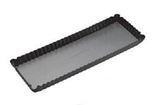 MasterClass Non-Stick Loose Base Rectangular Fluted Flan / Quiche Tin