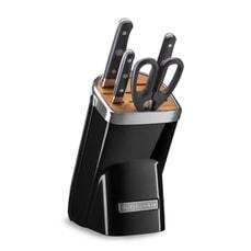 KitchenAid 5 Piece Knife Block Set Onyx Black