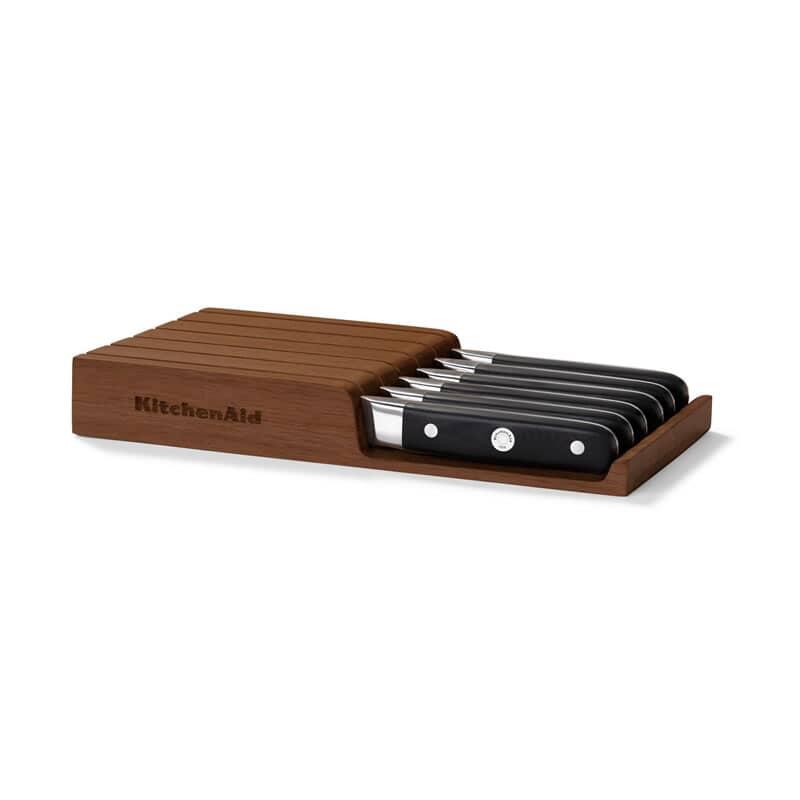 Kitchenaid 6 Piece Steak Knife Set In Drawer Block