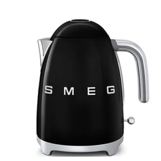 Smeg Kettle Black 3D Logo