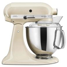 KitchenAid Artisan Mixer 4.8L Almond Cream Fresh Prep Bundle (5KSM125BAC)