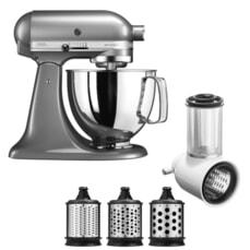 KitchenAid Artisan Mixer 4.8L Contour Silver Fresh Prep Bundle (5KSM125BCU)