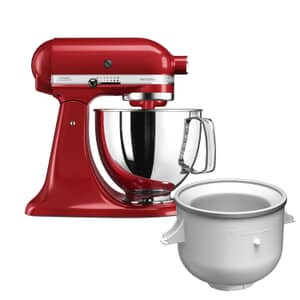 KitchenAid Artisan Mixer 4.8L Empire Red Ice Cream Bundle (5KSM125BER)