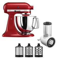 KitchenAid Artisan Mixer 4.8L Empire Red Fresh Prep Bundle (5KSM125BER)