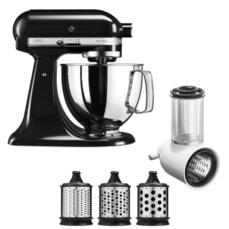 KitchenAid Artisan Mixer 4.8L Onyx Black Fresh Prep Bundle (5KSM125BOB)
