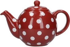 London Pottery Globe� 2 Cup Teapot Red With White Spots