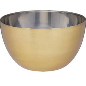 MasterClass Stainless Steel Brass Finish 24cm Mixing Bowl
