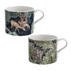 Spode The Original Morris and Co - Brook And Acanthus Mugs Set Of 2