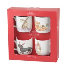 Wrendale Christmas 4 Piece Mug Gift Set