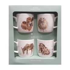 Wrendale Summer Farmyard 4 Piece Mug Set
