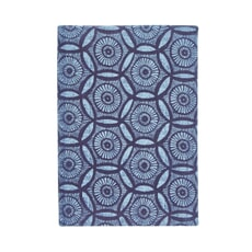 MurmurJapanese Floral Medium Hard Back Notebook Blue