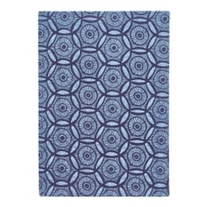 Murmur Japanese Floral Large Hard Back Notebook Blue
