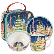 Churchill Little Rhymes - Oh Christmas Tree Breakfast Set