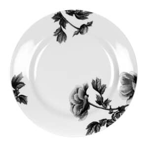 Royal Worcester Peony Black - Dessert/Salad Plate