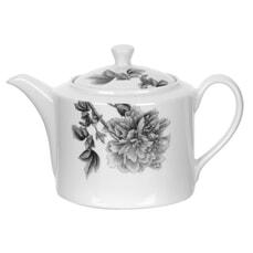 Royal Worcester Peony Black - Teapot