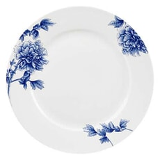 Royal Worcester Peony Blue Dinner Plate