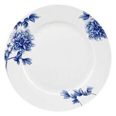 Royal Worcester Peony Blue Dinner Plate