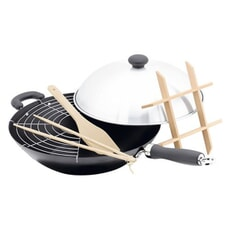 Judge Speciality Cookware 6 Piece Wok Set
