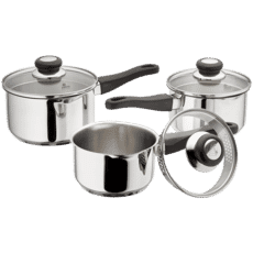 Judge Vista 3 Piece Draining Saucepan Set