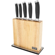 Stellar James Martin 5 Piece Wooden Knife Block Set with Magnetic Face